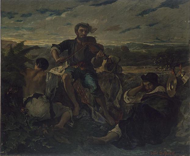 BELLET DU POISAT Pierre Alfred, Die drei Zigeuner,musée de Grenoble, ca. 1850-1875.